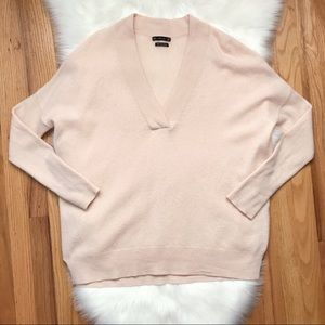 Zara Knit 100% Cashmere V Neck Sweater M